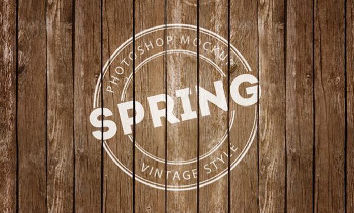 vintage style logo PSD Mock-up