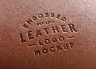 Awesome Leather Effect Logo Mockup (PSD)