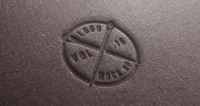 Brown Linen Logo Mock-Up PSD Template