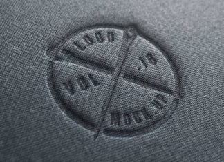 Fantastic Logo Mock-Up For Textile Business