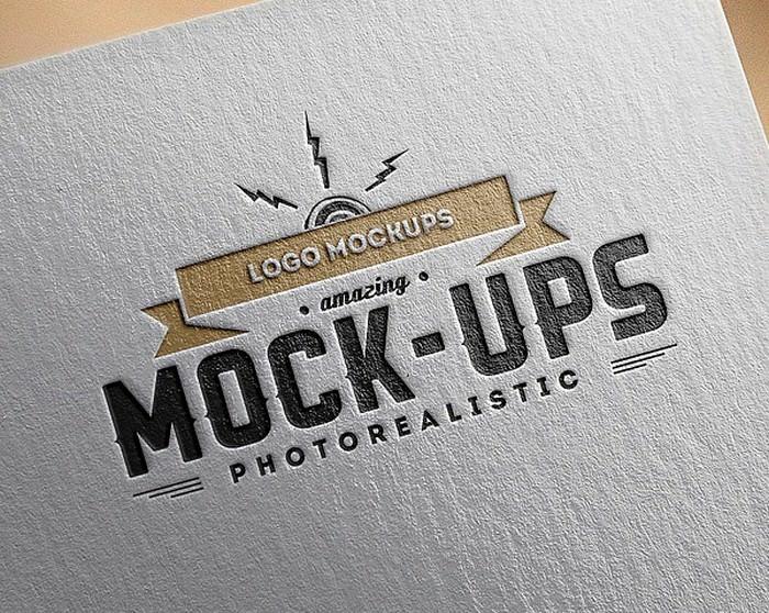Amazing Photo-Realistic Paper Logo MockUps