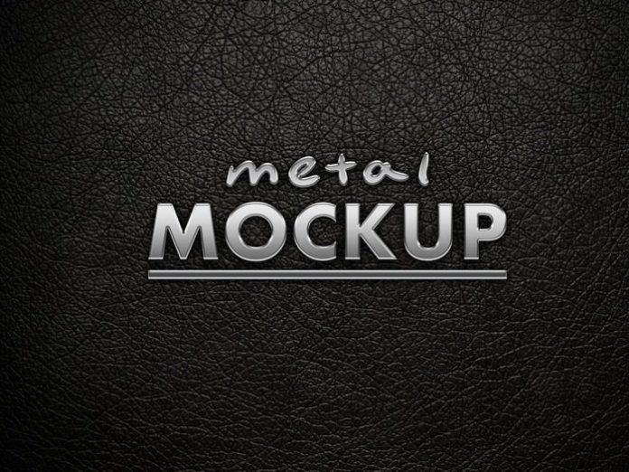 Creative Metal Logo Mockup (PSD)