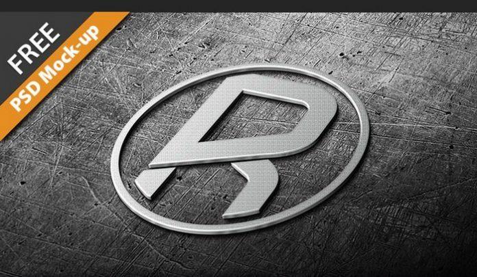 Photorealistic Metal Logo 3D Mock-Up