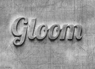 Striking Metal Logo Mockup With Scratched Effect
