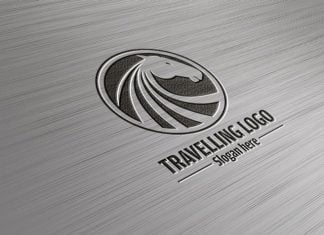 Superb Steel Logo PSD Mockup