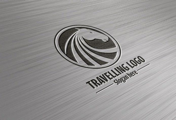 Superb Steel Logo PSD Mockup