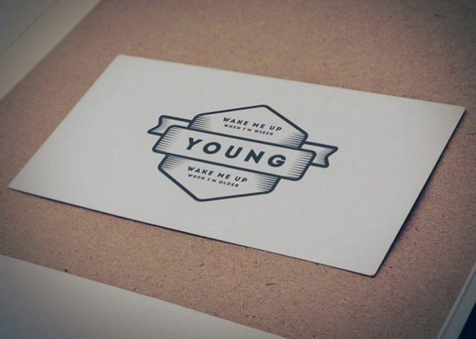 Vintage Style Paper Logo Mockup Layered PSD