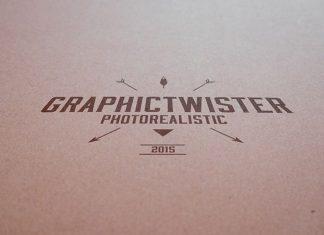 Free Vintage Paper Branding Logo Mockup