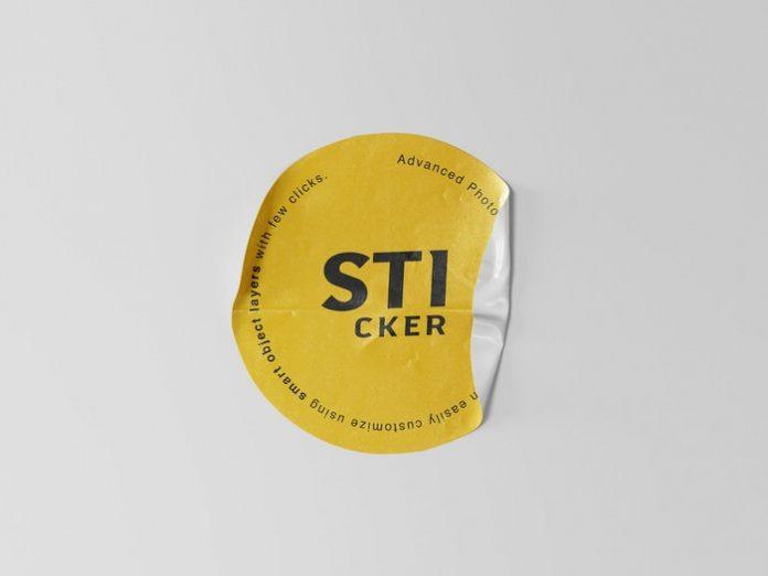 Plain Sticker Mockup PSD Template