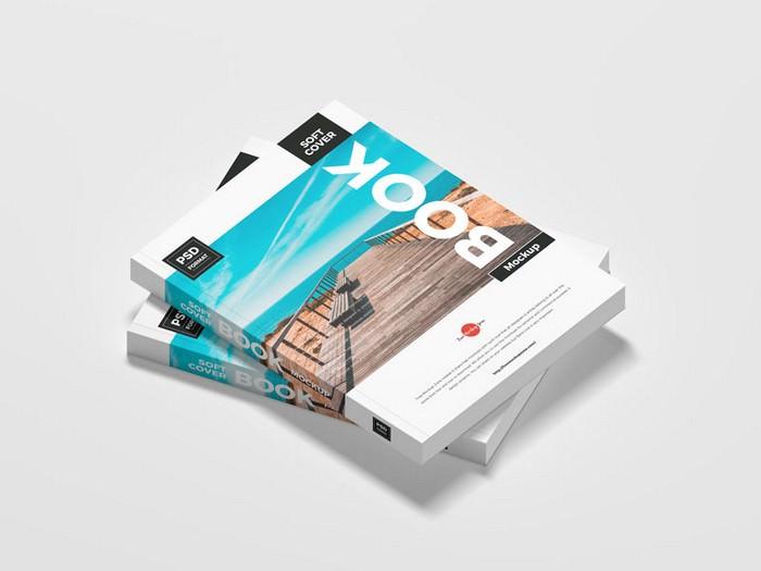 High Resolution Soft Book PSD Mockup