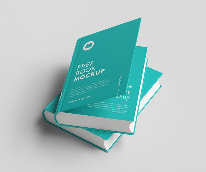 Set of Two Book PSD Mockup