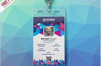25+ Top Vertical ID Card Templates &  Designs – PSD, AI, EPS