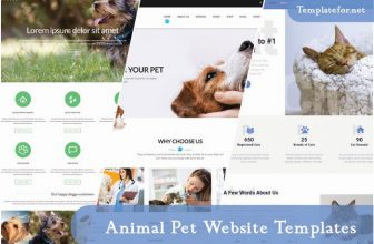50+ Best Animal Pet Website Templates 2020