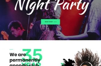 23+ Awesome Night Club Website Templates 2020
