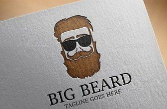 20+ Best Beard Man Logo Designs And Templates 2019