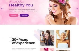 36+ Best Beauty Salon Website Templates 2020