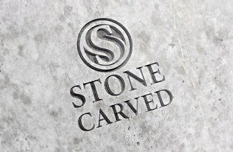 Free Realistic Logo Mockup With Carved Stone Effect
