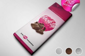 Excellent Chocolate Product Package Mockup (PSD)