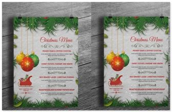 14+ Best Holiday Menu Templates – PSD, Vector Format