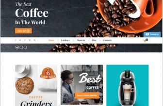 7+ Best Coffee Shop VirtueMart Website Templates 2018