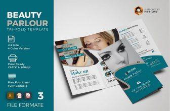 20+ Best Beauty Parlour Brochure Templates & Designs 2020