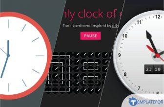 30+ Creative Clocks Created with CSS 2021