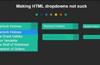 38+ Free HTML5 CSS3 jQuery DropDown Menus