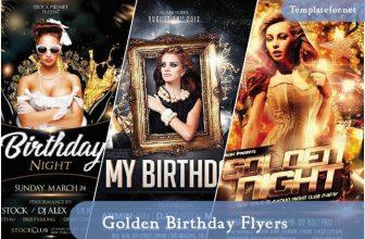 20+ Best Golden Birthday Flyer Templates – 2021