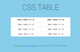 22+ Best CSS Tables To Show Information 2020