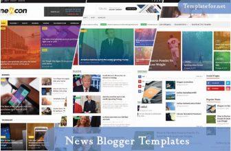 35+ Free News Blogger Templates & Themes 2020