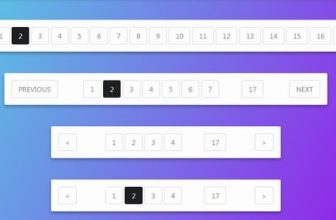 20+ Superb Pagination HTML CSS Templates
