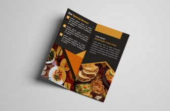 30+ Cool Restaurant Menu Brochure Templates & Designs 2020