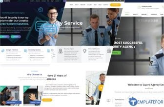 25+ Best Security Services Website Templates 2021