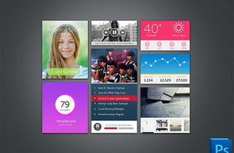 42+ Free Flat Photoshop PSD UI Kits 2018