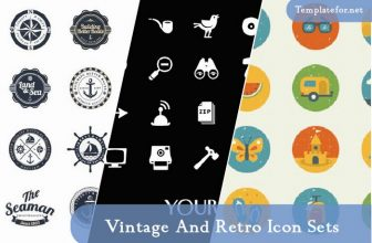 30+ Best Free Vintage And Retro Icon Sets 2020