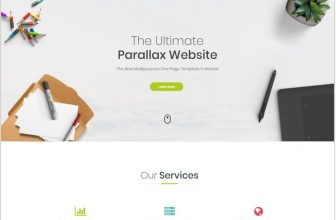 25+ Top One Page Bootstrap Website Templates & Themes 2018