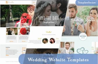 60+ Best Wedding Website Templates Free & Premium 2020