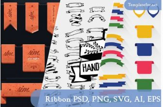 50+ Ribbon Templates For Designers – PSD, PNG, SVG, AI, EPS, JPG